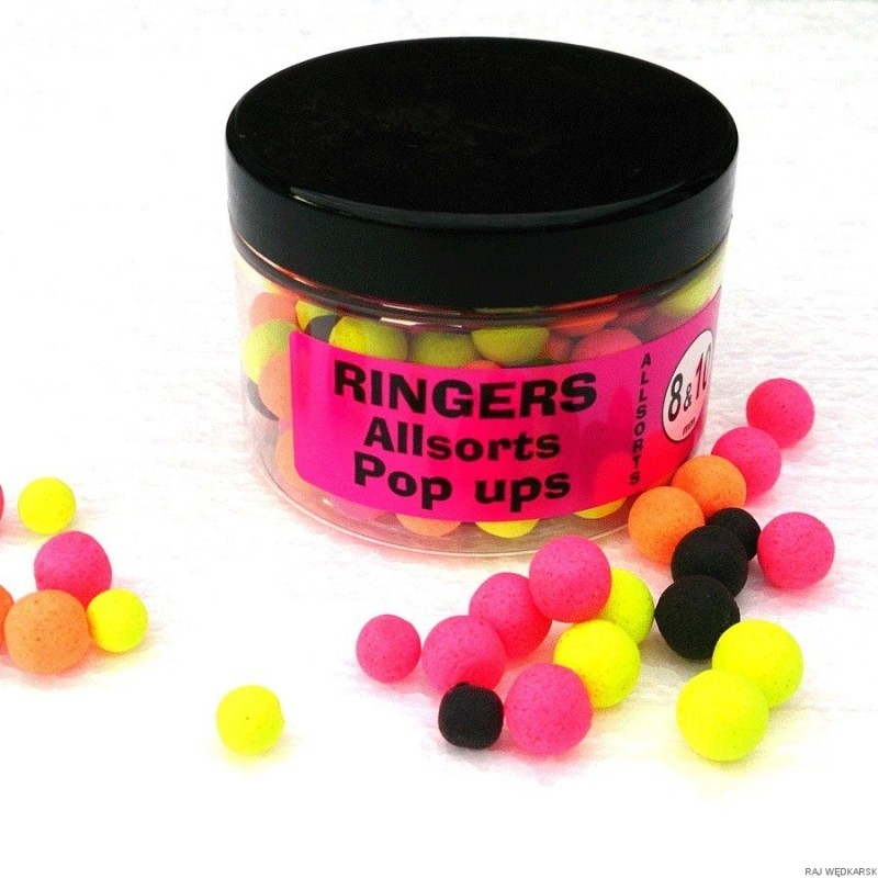 Allsorts Pop up Boilies 8mm & 10mm Ringers