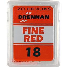 Haczyki Drennan Fine Red