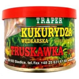 Kukurydza w puszce Truskawka 70g TRAPER