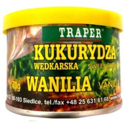 Kukurydza w puszce Wanilia 70g TRAPER