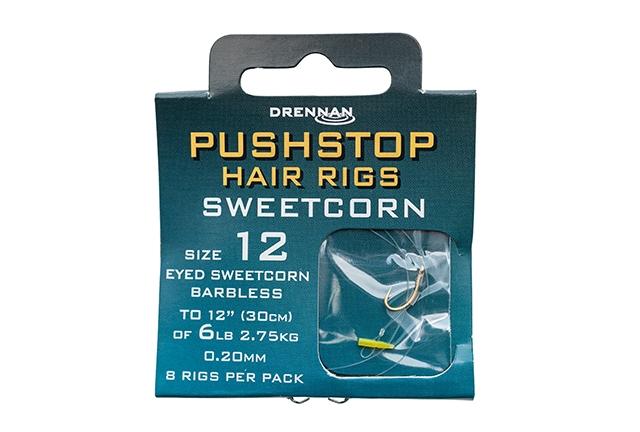 Haczyki Drennan Sweetcorn Pushstop Przypon