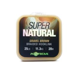 Korda Plecionka Super Natural Gravel Brown